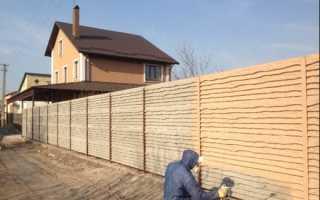 Советы по покраске заборов из бетона
