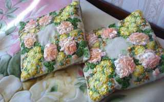 Как вышить подушку крестиком