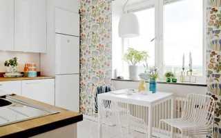 Как комбинировать обои для кухни?
