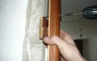 Чем заделать щели в деревянной двери?