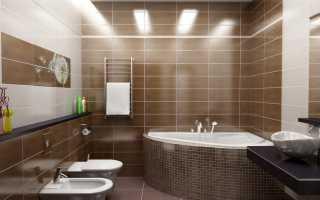 Точечные светильники в ванной