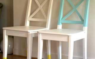 Чем покрасить стул из дерева?