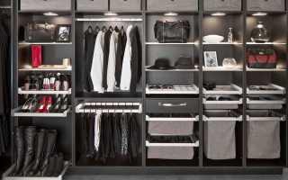 Наполнение гардеробных комнат