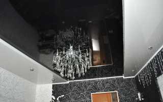 Интерьер с черным потолком