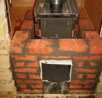 Каким кирпичом обложить металлическую печь в бане