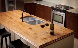Из какого дерева сделать столешницу для кухни?
