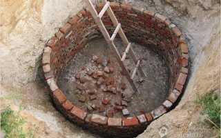 Сливная яма из кирпича своими руками