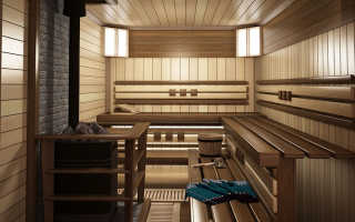 Интерьер в бане