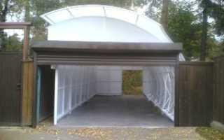Строим гараж из поликарбоната на даче