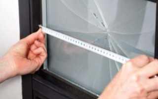 Как поменять разбитое стекло в межкомнатной двери?