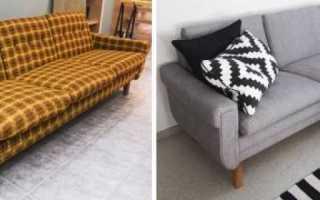 Как отреставрировать старый диван?