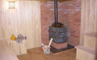 Как правильно установить металлическую печь в бане