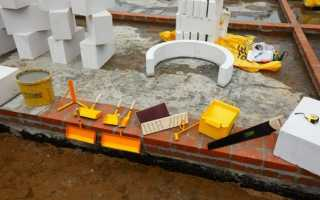 Технология кладки газосиликатных блоков