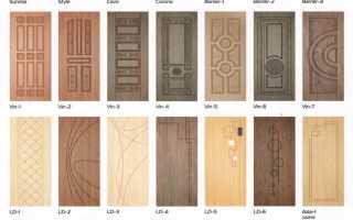 Отделка старой двери МДФ панелями