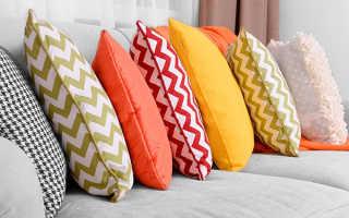 Чем набить подушку для дивана