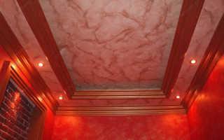 Виды декоративных натяжных потолков