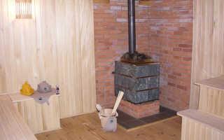 Дымит печь в бане при открытой дверце