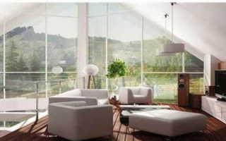 Большие окна для загородного дома