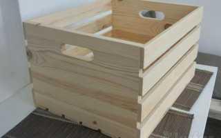 Простой деревянный ящик для хранения урожая