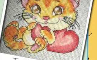 Коты вышивка крестом