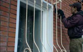 Установка решеток на окна своими руками