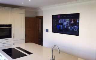Как встроить телевизор в фасад кухни?