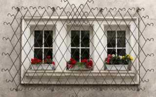 Расстояние между прутьями решетки на окна