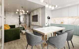 Современный дизайн гостиной кухни