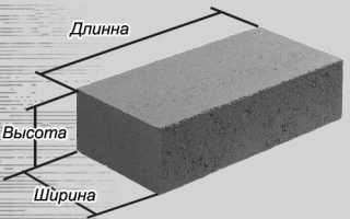 Размер строительного кирпича стандарт