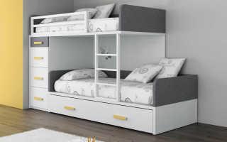 Какие бывают двухъярусные кровати?