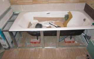 Как обложить ванну