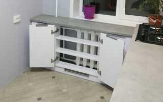 Как сделать под подоконником шкаф?
