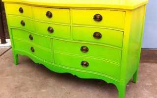 Чем перекрасить мебель из ДСП?