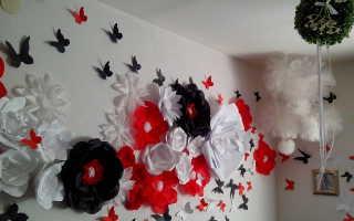 Оформление зала цветами
