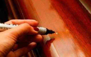 Как заделать вмятину на межкомнатной двери?