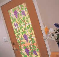 Чем обклеить пластиковую дверь?