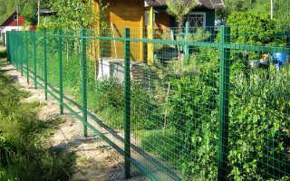 Забор из металлических ячеек