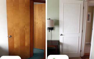 Как отделать старую межкомнатную дверь?