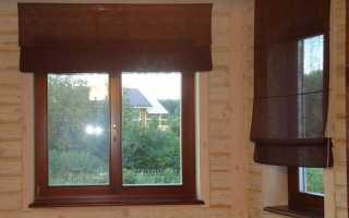 Рулонные шторы для окон из дерева