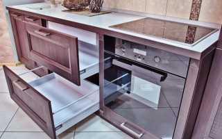 Как снять направляющие с ящика кухни?