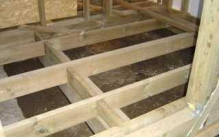 Деревянный пол в доме из пеноблоков устройство