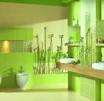 Ванная зеленая плитка