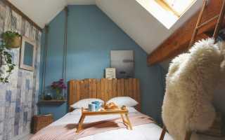 Мансарда спальня дизайн