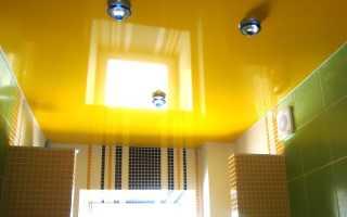 Желтый натяжной потолок в интерьере применение и монтаж