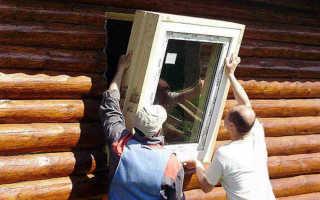 Как закрепить пластиковое окно в деревянном доме