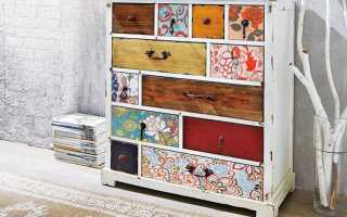Как декорировать старый шкаф?