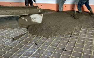 Как рассчитать кубатуру бетона для заливки пола