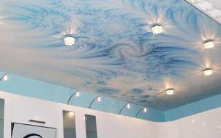 Голубой натяжной потолок в интерьере фото советы психологов