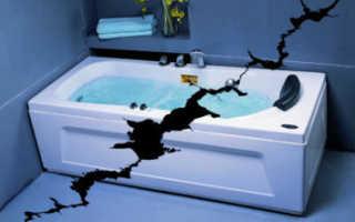 Как заделать дырку в ванной