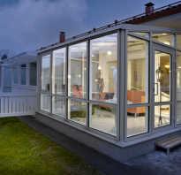 Веранда к дому с пластиковыми окнами